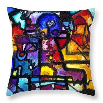 Dance Of The Gauge Bosons In Vacuum Throw Pillow by Regina Valluzzi