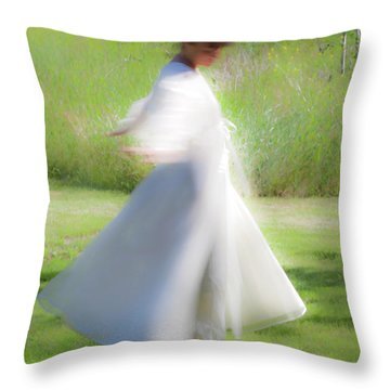 Dancing In The Sun Throw Pillow by Theresa Tahara