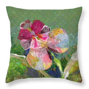 Dancing Orchid IIi Throw Pillow by Shadia Derbyshire