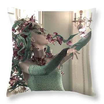 Dancing With Butterflies Throw Pillow by Marianna Mills