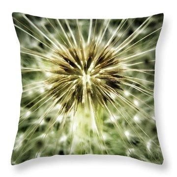 Dandelion Seeds Throw Pillow by Marianna Mills