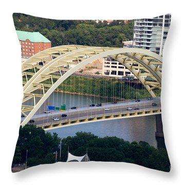 Daniel Carter Beard Bridge Cincinnati Ohio Throw Pillow by Paul Velgos