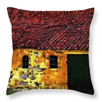 Danish Barn Impasto Version Throw Pillow by Steve Harrington