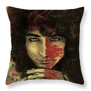 Danny Throw Pillow by Corporate Art Task Force