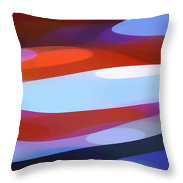 Dappled Light Panoramic 3 Throw Pillow by Amy Vangsgard