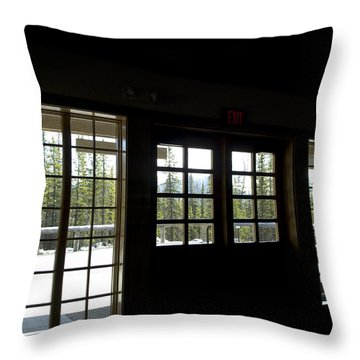 Dark Against The Light Throw Pillow by Tara Lynn