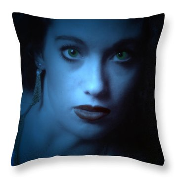 Dark And Mysterious  Throw Pillow by Teri Schuster