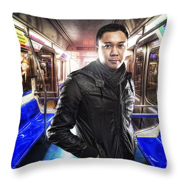 Dark Passenger Throw Pillow by Yhun Suarez