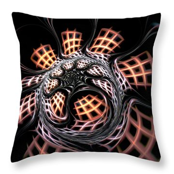 Dark Side Throw Pillow by Anastasiya Malakhova