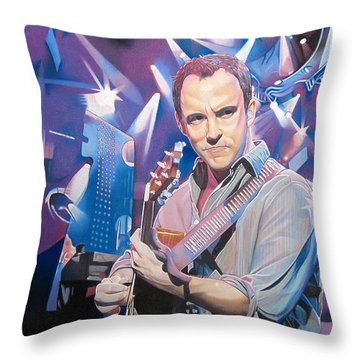 Dave Matthews And 2007 Lights Throw Pillow by Joshua Morton