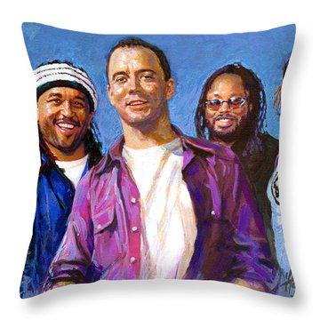 Dave Matthews Band Throw Pillow by Viola El