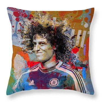 David Luiz Throw Pillow by Corporate Art Task Force