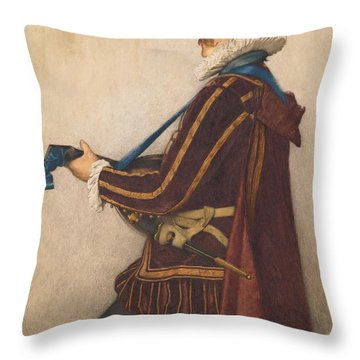 David Rizzio Throw Pillow by Sir James Dromgole Linton