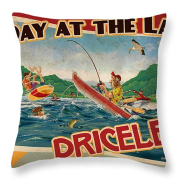 Day At The Lake Throw Pillow by JQ Licensing