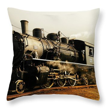 Days Of Steam And Steel Throw Pillow by Jeff Swan