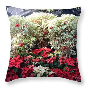 Decorated For Christmas Throw Pillow by Kathleen Struckle