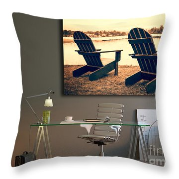 Decorating With Fine Art Photography Throw Pillow by Edward Fielding