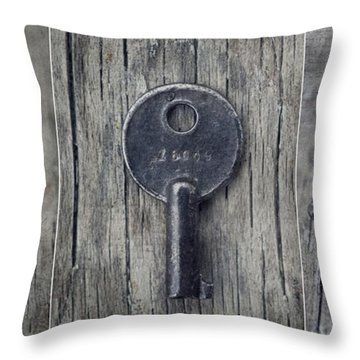 decorative vintage keys I Throw Pillow by Priska Wettstein
