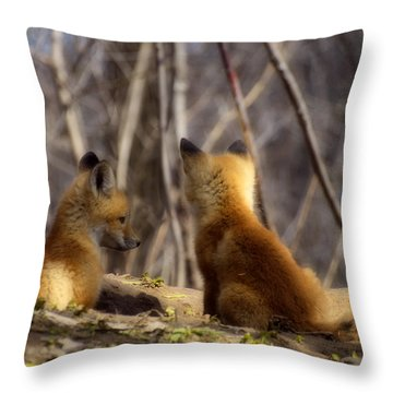 Deep In Thought 1 Throw Pillow by Thomas Young
