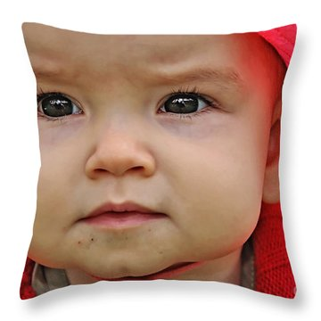 Deep In Thought Throw Pillow by Kaye Menner