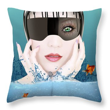 Deep Inside  Throw Pillow by Mark Ashkenazi