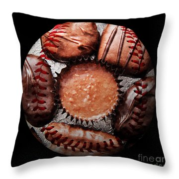 Deep Rich Chocolates Baseball Square Throw Pillow by Andee Design