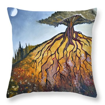Deep Roots Throw Pillow by Cedar Lee