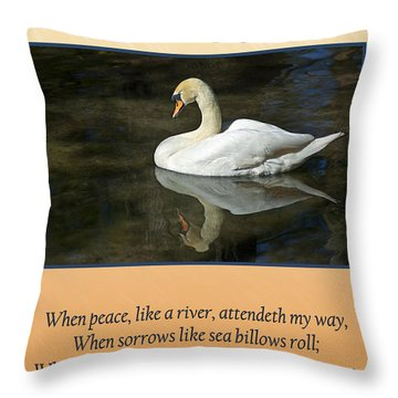 Deepest Sympathy Card Throw Pillow by Carolyn Marshall