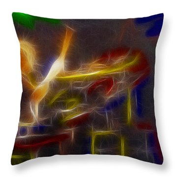 Def Leppard-adrenalize-gf24-ricka-fractal Throw Pillow by Gary Gingrich Galleries