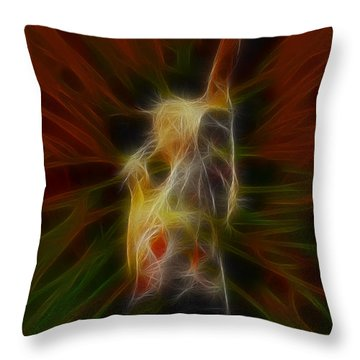 Def Leppard-adrenalize-joe-gb22-fractal Throw Pillow by Gary Gingrich Galleries