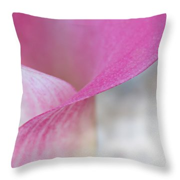 Delicate Curves Throw Pillow by Kume Bryant