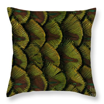 Delicate Feather Throw Pillow by Bedros Awak