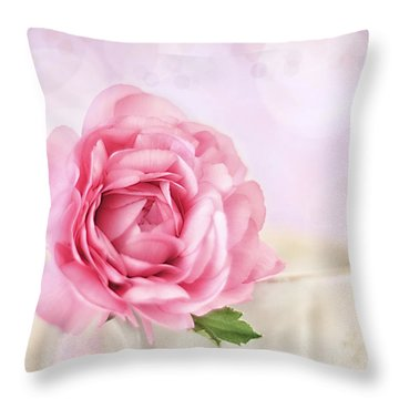 Delicate II Throw Pillow by Darren Fisher