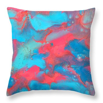Delicate Throw Pillow by Julia Apostolova