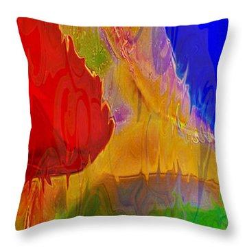 Delicious Colors Throw Pillow by Omaste Witkowski