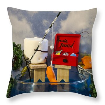 Delicious Fish Throw Pillow by Heather Applegate