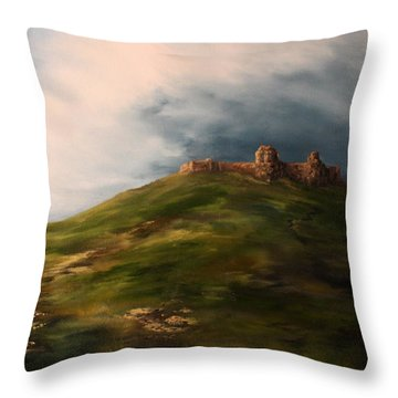 Deralict Chartley Castle Staffordshire Throw Pillow by Jean Walker