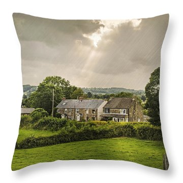 Derbyshire Cottages Throw Pillow by Amanda And Christopher Elwell