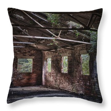 Derelict Building Throw Pillow by Amanda And Christopher Elwell