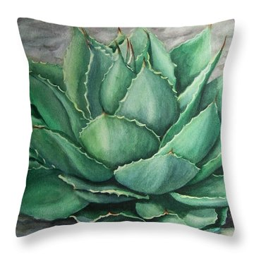 Desert Bloom Throw Pillow by Conni  Reinecke
