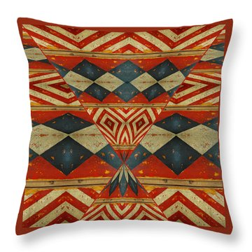 Design 1 -native Inspired Throw Pillow by Jeff Burgess