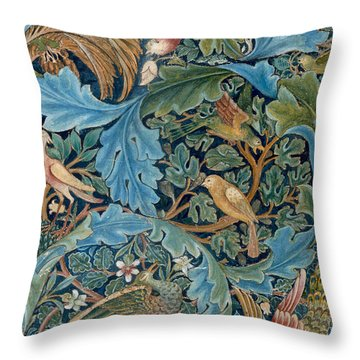 Design For Tapestry Throw Pillow by William Morris