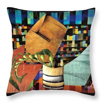 Designer Twig Throw Pillow by Sarah Loft