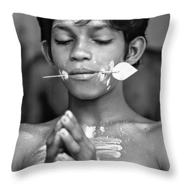 Devotion Bw Throw Pillow by Steve Harrington