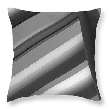 Diagonal Lines Throw Pillow by Darryl Dalton