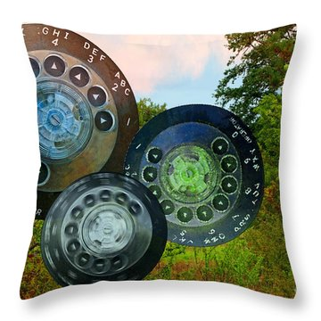 Dialing Up Fall Throw Pillow by Gwyn Newcombe