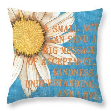 Dictionary Florals 4 Throw Pillow by Debbie DeWitt