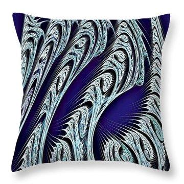 Digital Carvings Throw Pillow by Anastasiya Malakhova
