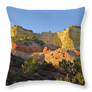 Dine' Tah ' Among The People ' Scenic Road Throw Pillow by Christine Till