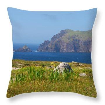 Dingle Coast Throw Pillow by Mary Carol Story
